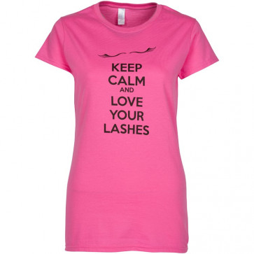 """Glad Lash """"Keep Calm and Love Your Lashes"""" T-Shirt"""