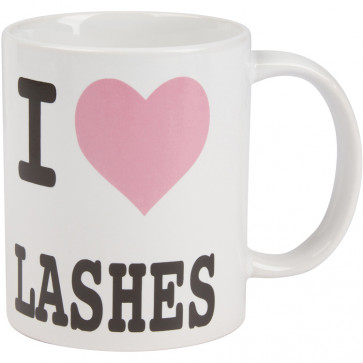 I Love Lashes Coffee Mug