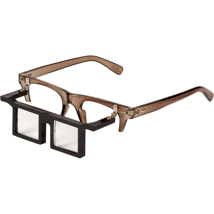Eyeglass Frame Extenders : Telesight Half Frame Magnifier - Glasses - Application Tools