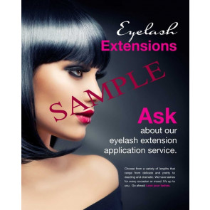 Eyelash Extensions, Black - Poster