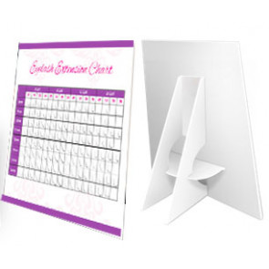 Eyelash Extension Chart Counter Card