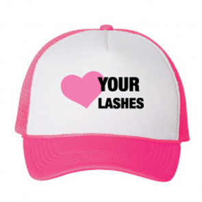 Lash Lid Hot Pink Hat