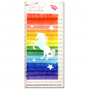 Rainbow Unicorn Silk Eyelash Extensions