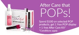 Spend $100 on selected POP products, get 1 free POP display + 1 free After Care Kit.* Conditions apply.