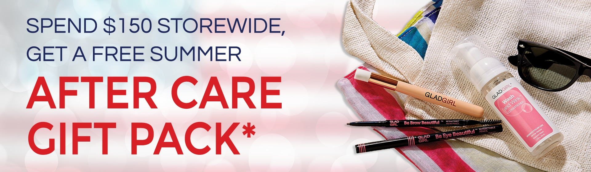 Spend $150 storewide, get a free summer after care gift pack